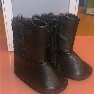 Micheal kors baby girl black boots.